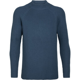 Icebreaker Hillock Funnel Neck Sweater Men prussian blue
